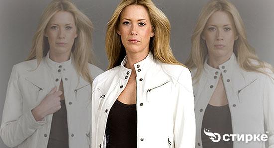 Чистим белую кожаную куртку к новому сезону