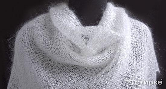 как отбелить белый пуховый платок
